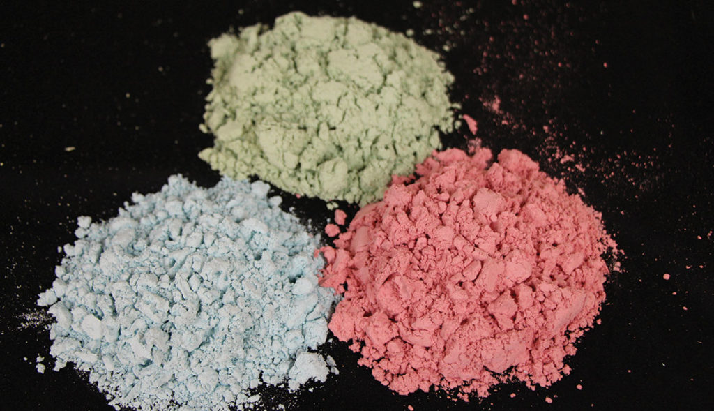 compression molded materials various colors